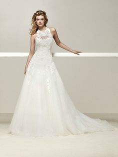 Brautkleid verknoteter Ausschnitt - Drisara