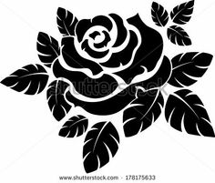 Vector Vector Rose Silhouette Isolated On White Royalty Free Cliparts, Vectors, And Stock Illustration. Pic Rose Silhouette Isolated On White Royalty Free Cliparts, Vectors, And Stock Illustration. Stencil Rosa, Rose Stencil, Stencil Art, Flower Stencils, Stencil Templates, Stencil Patterns, Stencil Designs, Embroidery Patterns, Hand Embroidery