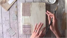 Plastered Art Journal Cover and Mixed Media painting Tutorial on Vimeo