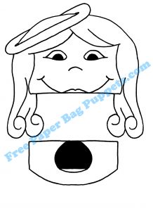 printable santa paper puppet 1000 images about paper bag puppets on 5292