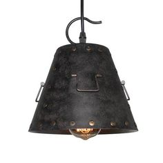 Do you want to decor your home with a chic pendant light? Featuring a metal shade and a single light encased in, this pendant fixture enhances your space with unique design. This 1-light mini pendant can complement many loft, urban, industrial and transitional decors.