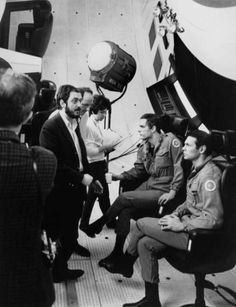 Stanley Kubrick on set of 2001: A Space Odyssey.