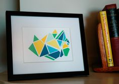 RESERVED FOR ANDY Geometric Paint Chip Art von WordForWordGreetings, $35,00