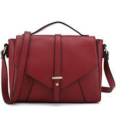3060c24882 Ladies Designer Purses Cross Body Handbags Trendy Bags for Women Shoulder  Bags (Red)