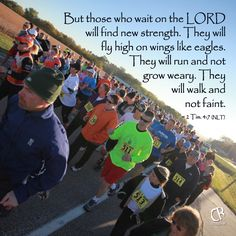 But those who wait on the LORD will find new strength. They will fly high on wings like eagles. They will run and not grow weary. They will walk and not faint. ~ Isaiah 40:31 #NLT #Bible verse | CrossRiverMedia.com