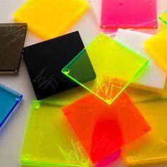Neon Acrylic Coasters