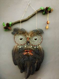 Owl Dream Catcher brown Dream Catcher by DreamyFlowerWonder
