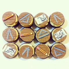 Architecture themed cupcakes for my architect sister-in-law.