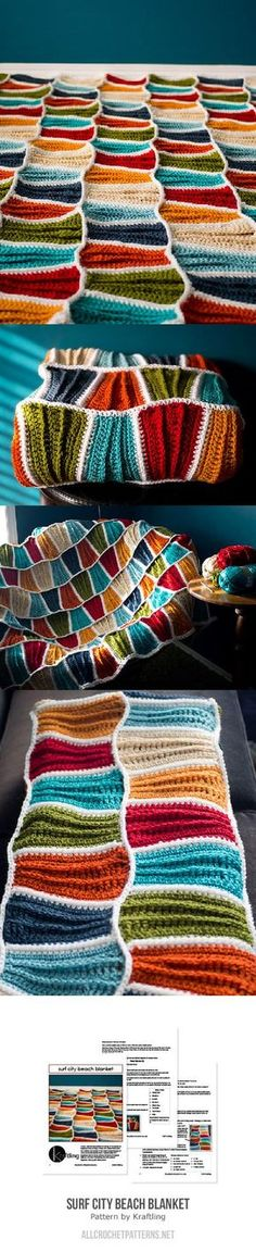 Surf City Beach Blanket Crochet Pattern