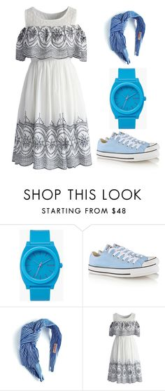 """Outfit Idea by Polyvore Remix"" by polyvore-remix ❤ liked on Polyvore featuring Nixon, Converse, Gina Made It and Chicwish"