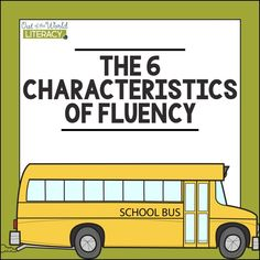 """I'll be going over the 6 characteristics of reading fluency. You may have readers in your class who are struggling to read fluently. If you have found yourself thinking """"He/she really struggles with fluency"""" then join me in taking a quick look at these 6 dimensions that make up fluency."""