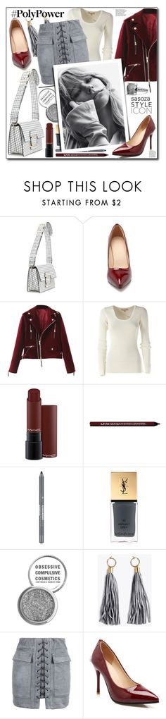 """""""Poly power by Sasoza"""" by sasooza ❤ liked on Polyvore featuring Roger Vivier, Michael Kors, MAC Cosmetics, Charlotte Russe, Yves Saint Laurent, Obsessive Compulsive Cosmetics, WithChic and David Yurman"""