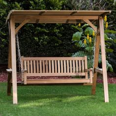 The Westminster Teak Swinging Bench is perfect for relaxing on your porch. This teak porch swing is made of Certified Teak Wood & has Lifetime Warranty Wooden Swing Bench, Wooden Garden Benches, Wooden Swings, Outdoor Bench Swing, Porch Bench, Pallet Bench, Backyard Swings, Pergola Swing, Diy Pergola