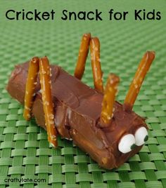 This cricket snack for kids will really make them giggle!