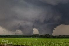 Roger Hill's incredible photo of the twin wedge tornadoes northeast of Pilger, Nebraska yesterday June 16, 2014.