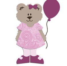 Free freebees gratis download SVG file and or scut file scrapbook paperpierciering Happy Birthday Bear Balloon Beer ballon verjaardag jarig