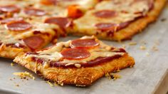Butter and Parmesan cheese add to an already delicious crust for this pepperoni pizza!