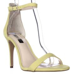 I. Roriee Ankle Strap Dress Sandals - Chartreuse