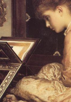 Study At a Reading Desk - Frederic Leighton (detail)