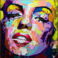 Cheap Envío Libre 100% Pintado A Mano de la Lona Pintura Al Óleo Retrato Figura Arte de la Pared de Marilyn Monroe Cara Sin Marco, Compro Calidad Pintura y Caligrafía directamente de los surtidores de China:           Isi usted quiere el otro tamañopor favor, póngase en contacto con nosotros