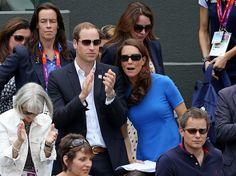 Kate Middleton Photos - The Duke and Duchess of Cambridge take in a day of Tennis at Wimbledon - Zimbio