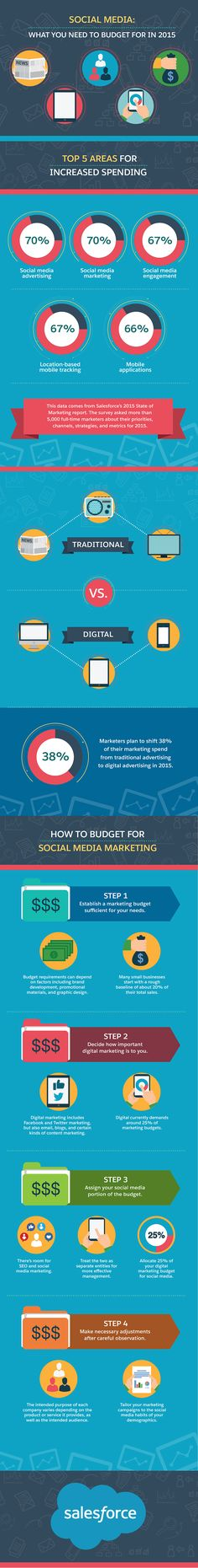 Social Media #Marketing: What You Need To Budget For In 2015 - #infographic