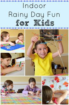 Indoor Rainy Day Fun for Kids -- quick and easy to set up!