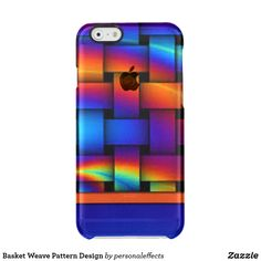 Basket Weave Pattern Design Clear iPhone 6/6S Case - pattern, pattern print, gifts, gift idea, colorful, phone, cell, apple,