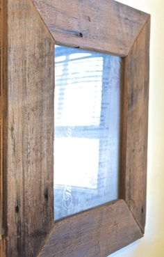 100 Year Old Barn Wood Picture Frame by FamilyWoodCraft on Etsy, $120.00 I'm having something similar to this made for my studio by Heritage Beam and Board.