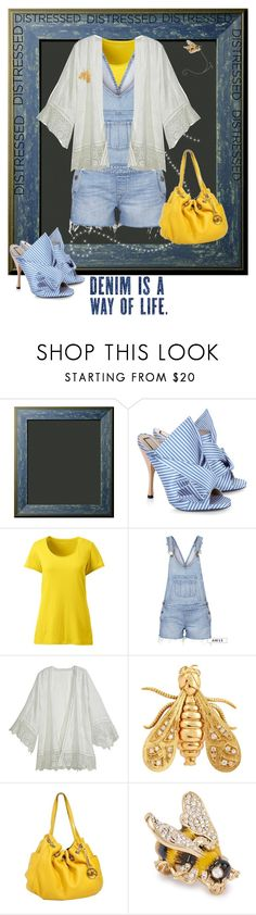 """""""Queen bee"""" by joyfulmum ❤ liked on Polyvore featuring N°21, Lands' End, Paige Denim, Calypso St. Barth, Chaumet, Michael Kors and Vivienne Westwood"""