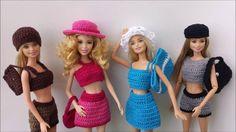 Barbie com roupa de crochê Look 8