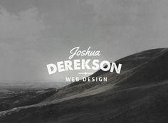 10 Name Based Logo Templates by Tom Anders Watkins, via Behance