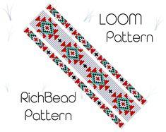 Beading Patterns Free, Seed Bead Patterns, Weaving Patterns, Brick Patterns, Jewelry Patterns, Jewelry Ideas, Bead Loom Designs, Beadwork Designs, Loom Bracelet Patterns