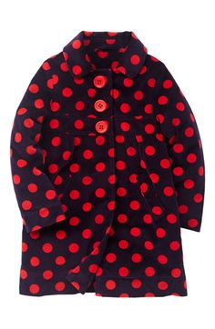 velvet polka dot coat