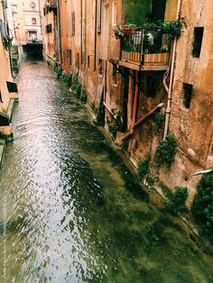 canal in Bologna,Italy