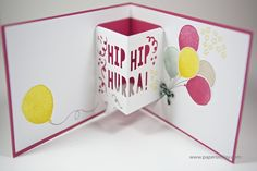 3D Geburtstagskarte mit Material von Stampin Up! - Thinlits Formen Party in 3-D - Party Pop-Up Thinlits
