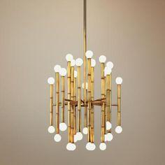 Jonathan Adler Meurice Collection 30-Light Brass Chandelier | LampsPlus.com