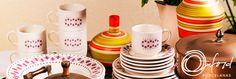 Aparelho de Jantar e Chá em Cerâmica 20 peças Dona - Oxford - Havan