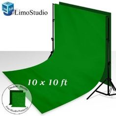 LimoStudio 10' x 8.5' Photography Photo Background Stand Backdrop Support System Kit + 10' x 10' 100% Cotton Green Chroma Key Photo Studio Muslin Backdrop Background + LimoStudio Green Muslin Protector Photo Portrait Studio, AGG275 by LimoStudio. $37.33. (1) x LimoStudio Photography Backdrop Support Stand with 10' Crossbar Easy to set up and store (Just needs a few seconds) Perfect Lightweight Aluminum Tripods Solid Safety 3 Legs Stages Premium Quality Support Bars He...