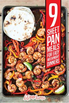 Just about any of your favorite meats and vegetables can be easily prepared using a sheet pan and your oven. This list of sheet pan recipes is super eclectic, fun, and best of all, super freakin' easy! Keep reading for 9 sheet pan meals for easy weeknight dinners.