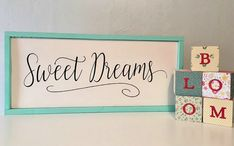 Sweet Dreams Nursery Decor  Wood Sign