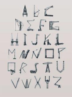 Cranes Alphabet by  Lassintoperil