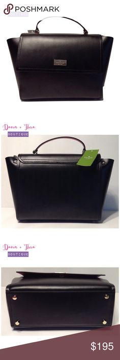"""🌟NWT Kate Spade Arbour Hill Lilah🌟 🌟BRAND NEW🌟  COLOR: black/sweetheart pink  SIZE * 8.6""""h x 9.9""""w x 4.7""""d * drop length: 2.75"""" handheld * total strap length: 32.3""""  MATERIAL * smooth leather with matching trim * unlined  DETAILS * shoulder bag with snap closure, top handle and adjustable strap * interior zipper pocket * gold staple kate spade new york signature  💟Submit your offer thru the """"Offer"""" button 💟NO Price discussion in the comment 💟NO Lowballing 💟NO Trades kate spade Bags"""