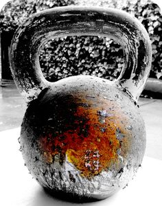 Kettlebell Doesn't take much- a keetlebell and space