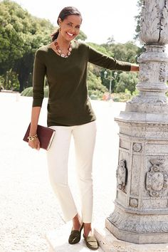 Have you heard? Olive is the new black- and we're loving it. | Talbots Fall 2019
