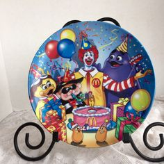 Birthday Plate Melamine Children's Plate Vintage Ronald McDonald by vintagepoetic on Etsy