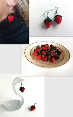Hey, I found this really awesome Etsy listing at https://www.etsy.com/listing/221491734/strawberry-earrings-fruit-earrings