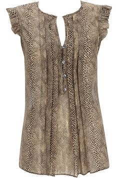 Brown Snake Blouse