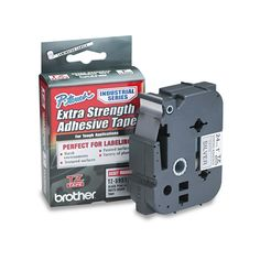 Brother P-Touch TZ Extra-Strength Adhesive d Labeling Tape 1w Black on Matte