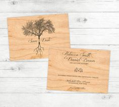Vintage Earthy Roots Rustic Save the Date on by graystardesign